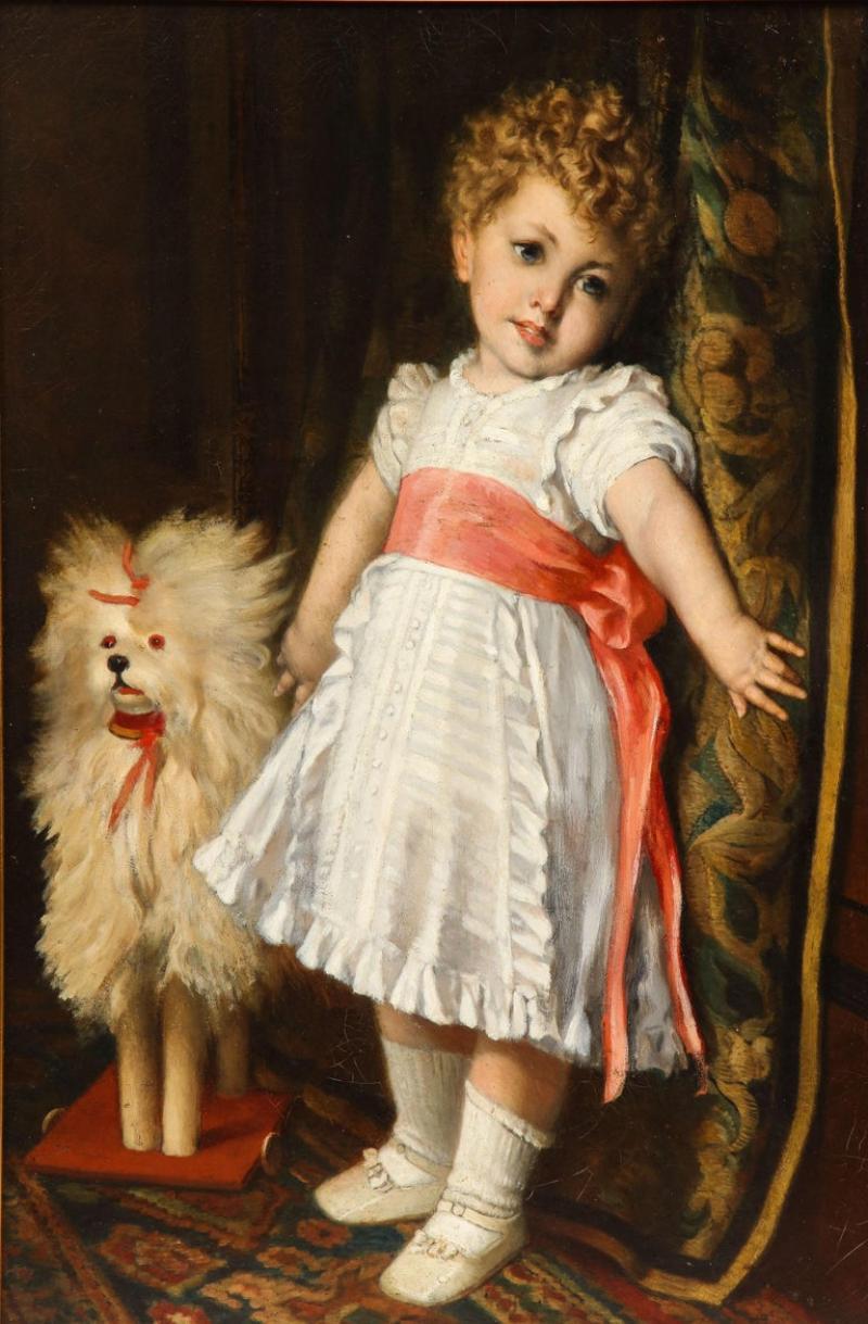 Constantin Meunier Constantin Emile Meunier Hide Seek French Oil on Canvas