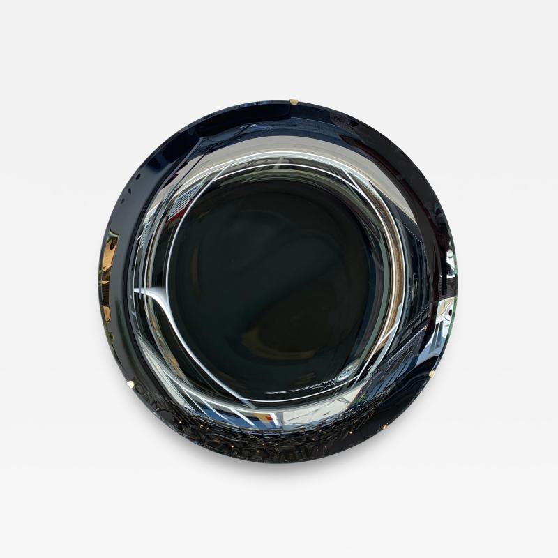 Contemporary Black Curve Mirror Italy