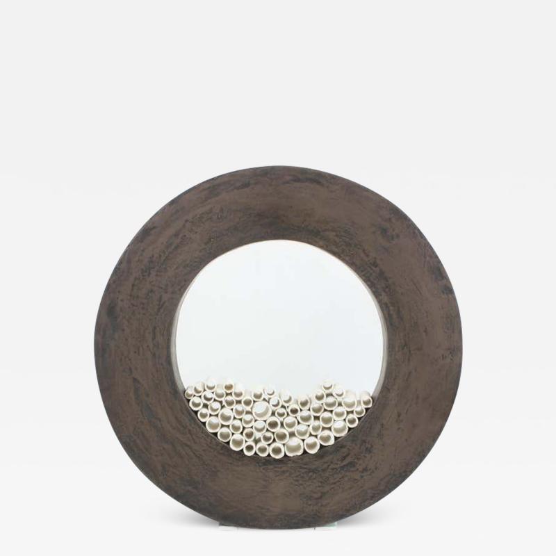 Contemporary Ceramic Sculpture Grand Anneau Noir