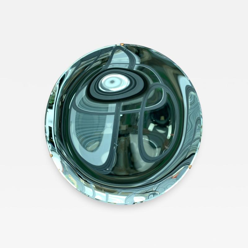 Contemporary Green Curve Mirror Italy