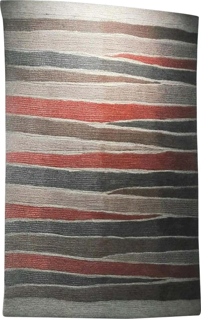 Contemporary Hand Felted Wool Rug