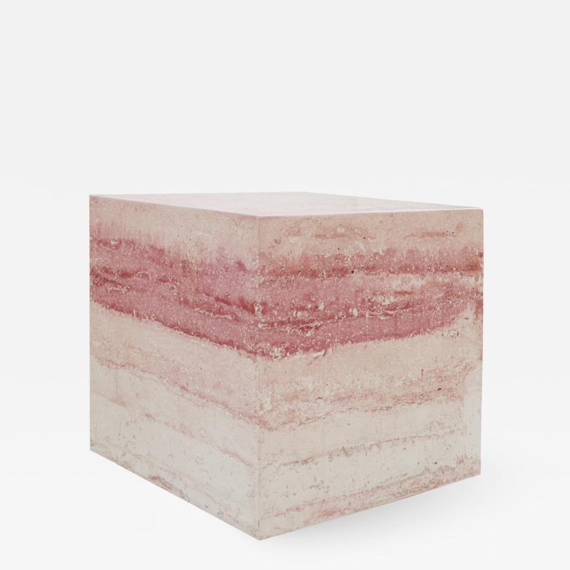 Contemporary Stuccoed Marble Spanish Side Table