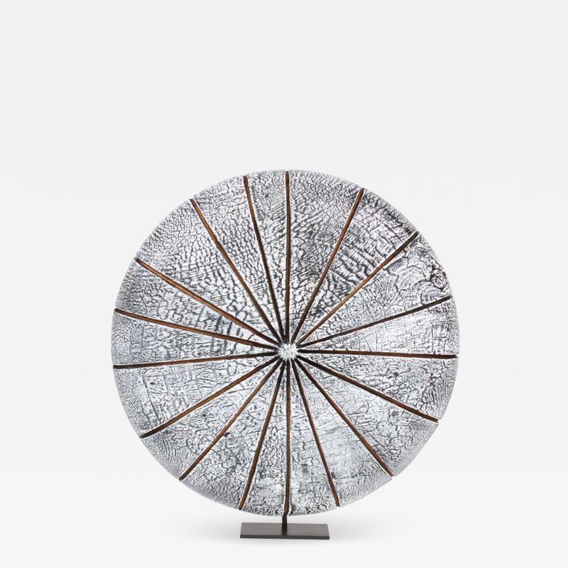 Contemporary Wood Sculpture Paras l ne Blanc