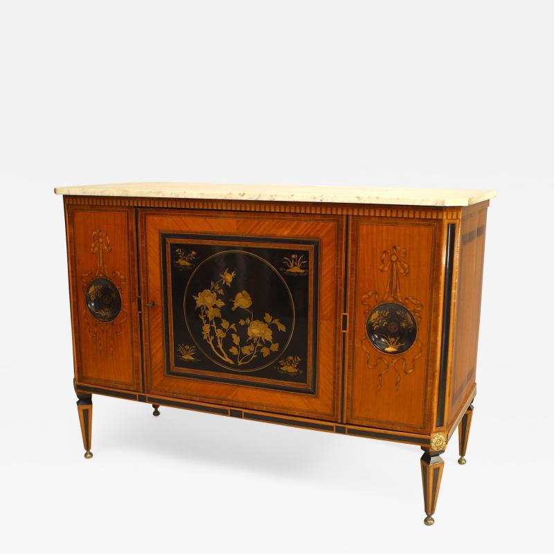 Continental Dutch Satinwood Inlaid Commode