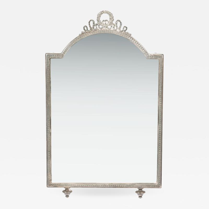 Continental silver plated dressing table mirror