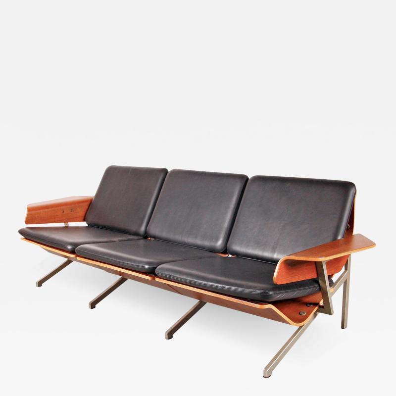 Cornelis Zitman 1964s Rare Cornelis Zitman Three Seat Leather Sofa