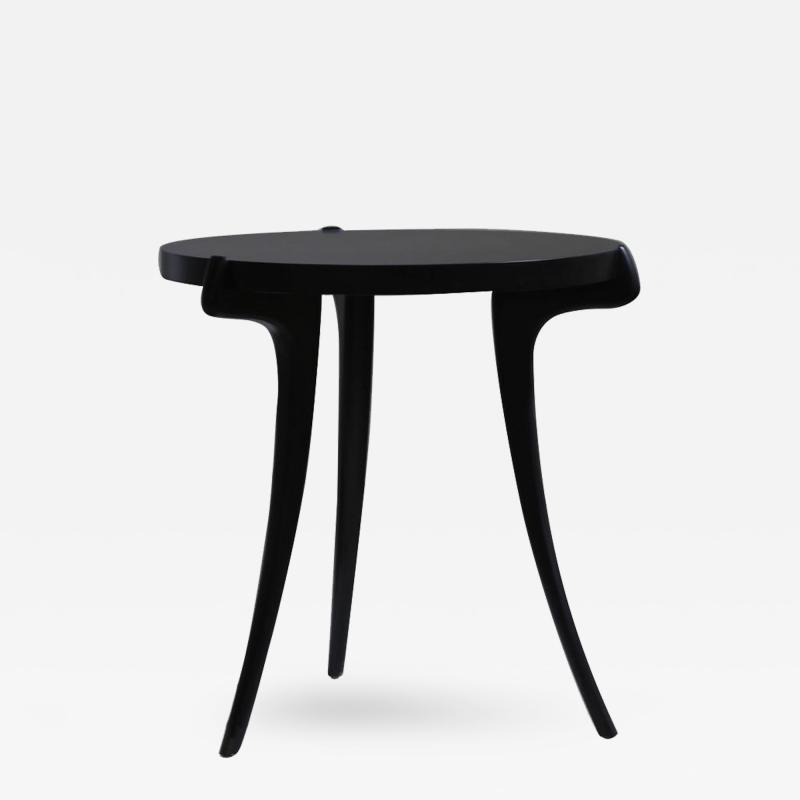 Costantini Design Uccello Ebonized Wood Sabre Leg Side Table