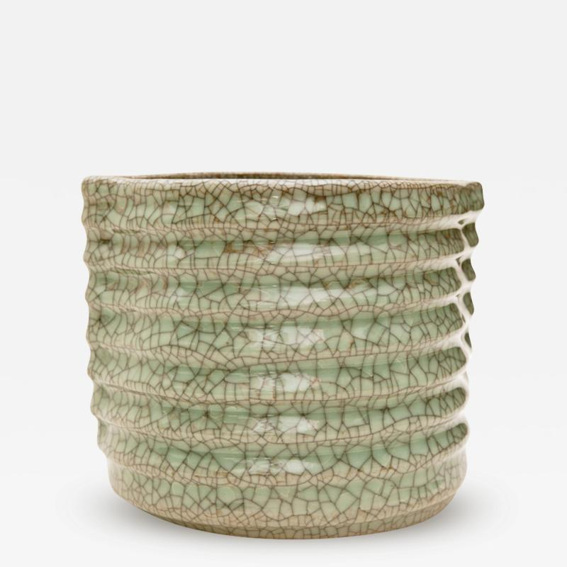 Crackled Celadon Mizusashi