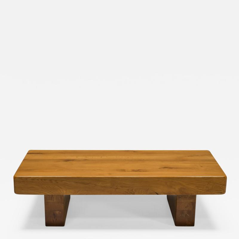 Craftsman Wooden Coffee Table 1960s