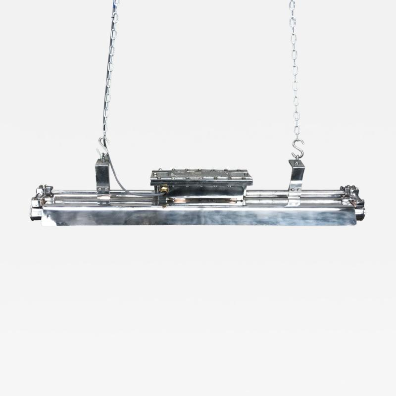 Crouse Hinds 1970s American Pauluhn Cast Aluminium Flameproof Tube Light by Crouse Hinds