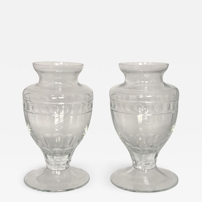 Crystal Vases American 20th Century A Pair