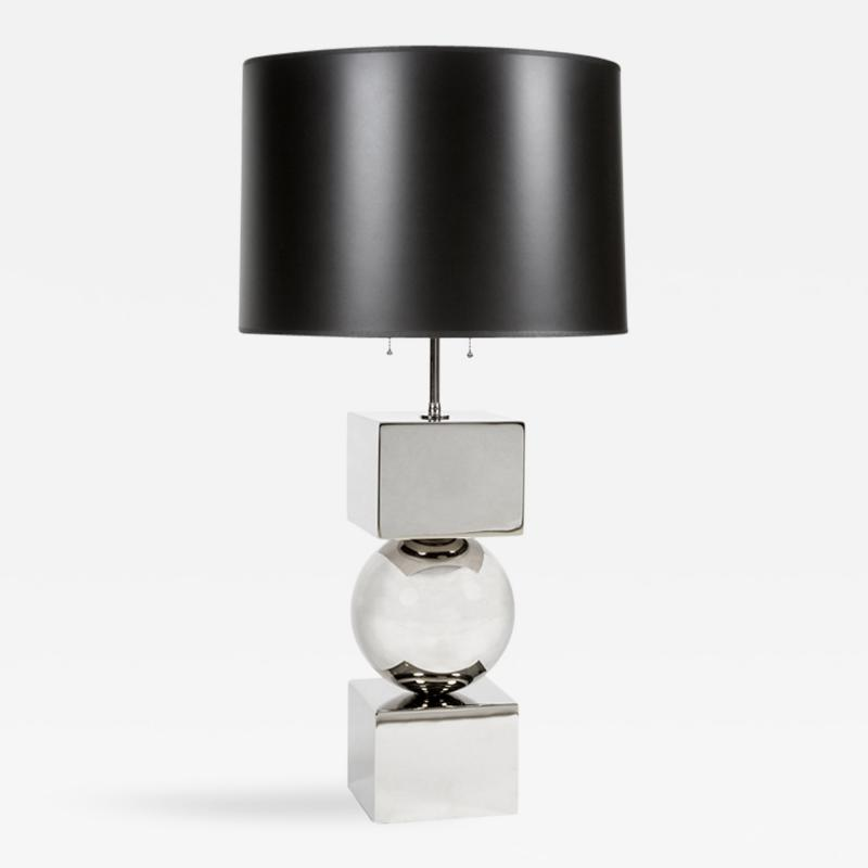 Cube and Ball Table Lamp