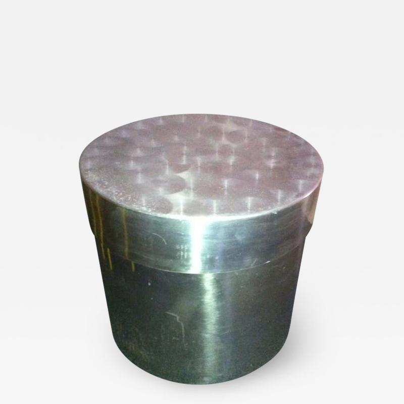 Curtis Jer 1960s Aluminium Covered Box Attributed Jere