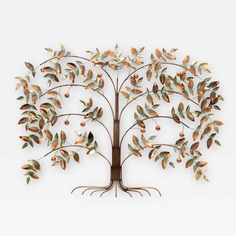 Curtis Jer Curtis Jere Tree Of Life Copper Wall Sculpture