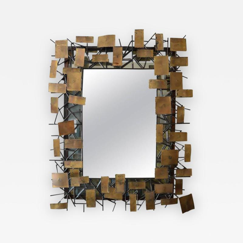Curtis Jere Mirror in the Style of Curtis Jere