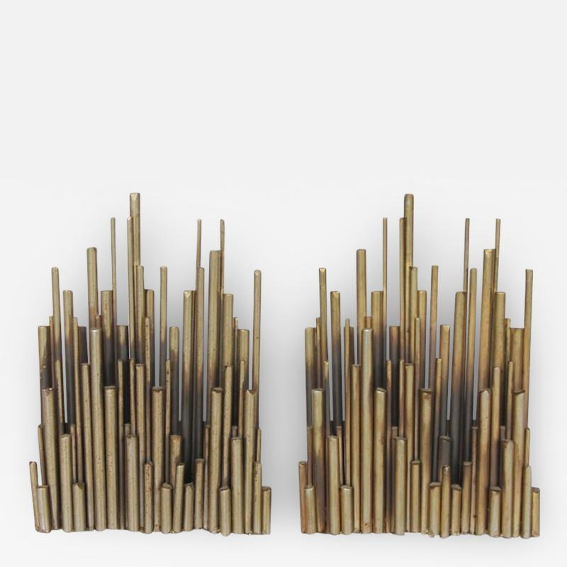 Curtis Jere Modern Brass Bookends by Curtis Jere