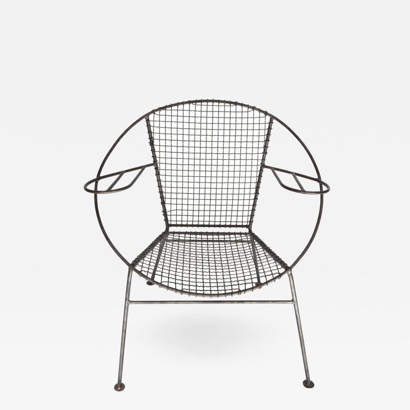 Curved Salterini Iron Steel Chair