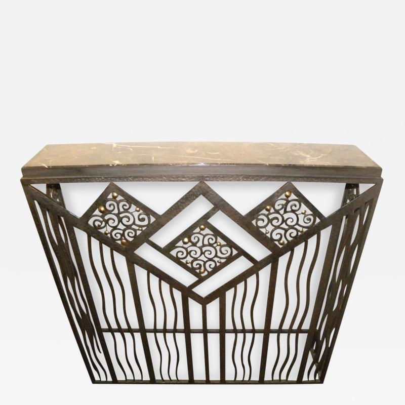 Custom French Style Iron Console Table Radiator Cover
