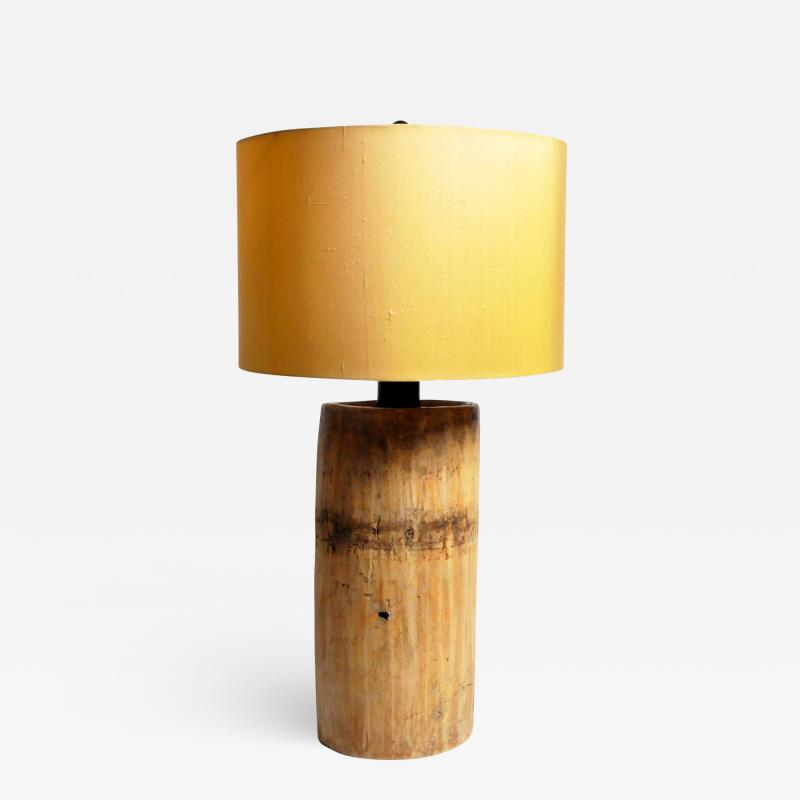 Custom Table Lamp Made from Reclaimed Wood