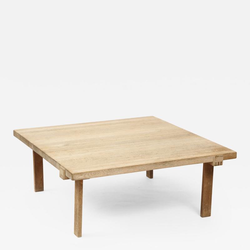 DANISH OAK SQUARE COFFEE TABLE