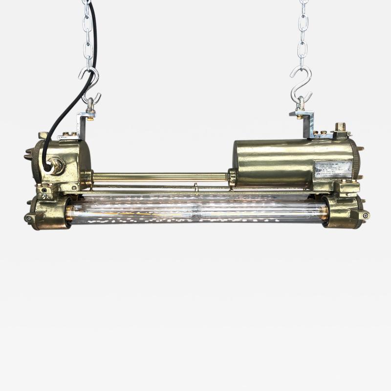 Daeyang Electric Company Ltd Retro Industrial Edison Brass Glass Tube Flameproof Striplight