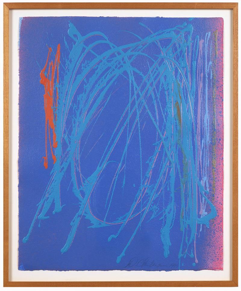 Dan Christensen Untitled Blue