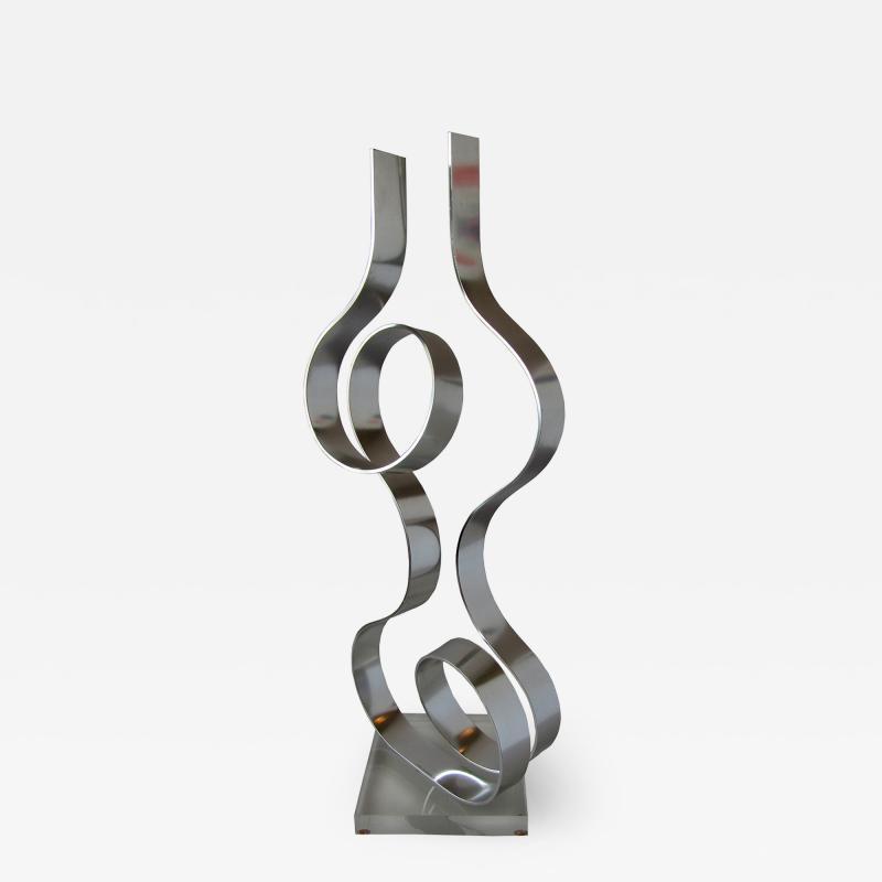 Dan Murphy American Modern Abstract Expressionist Polished Steel Sculpture Dan Murphy