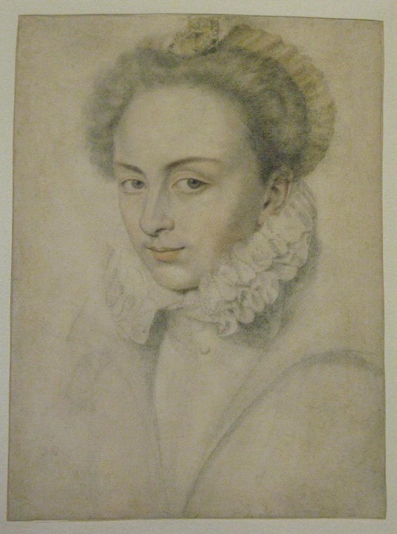 Daniel Dumonstier A Portrait of a Young Woman in a Ruffled Collar