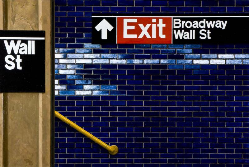 Daniel E Greene Wall St Yellow Railing