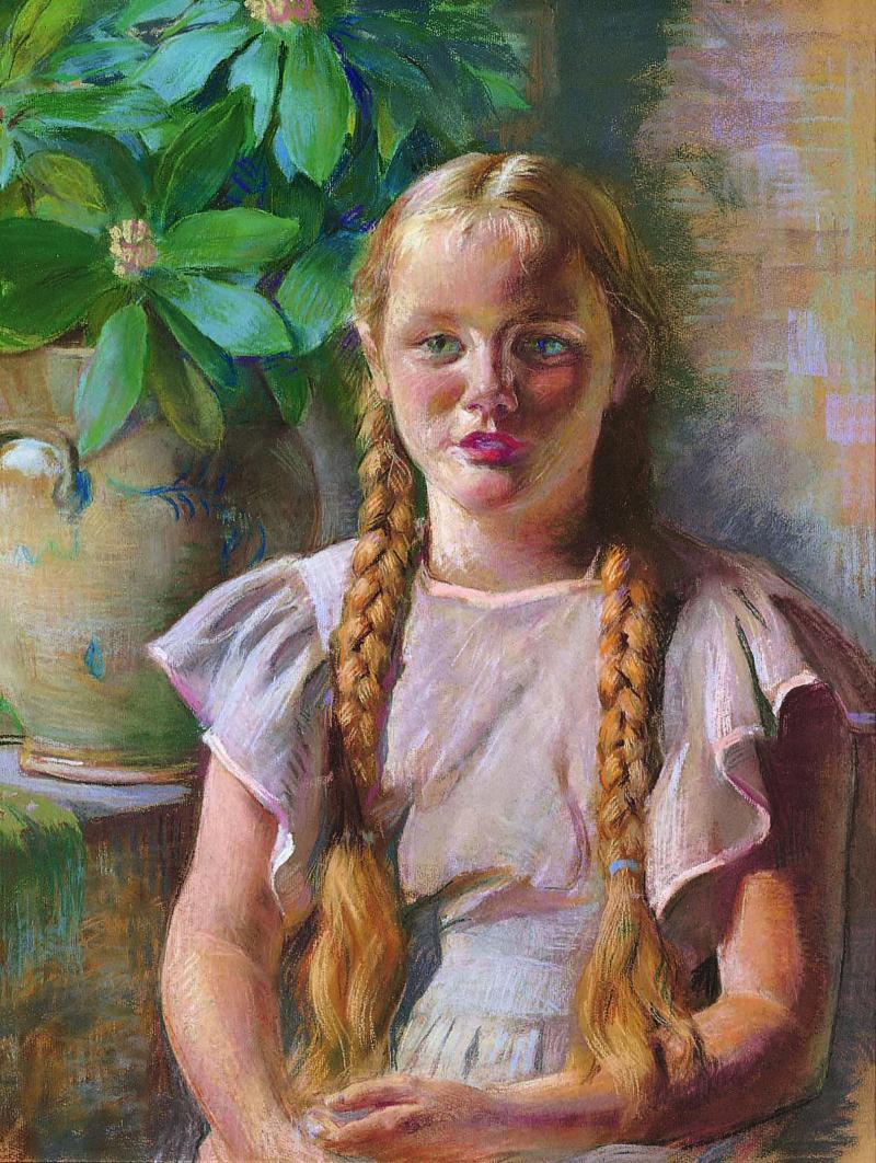 Daniel Garber Frances in Braids