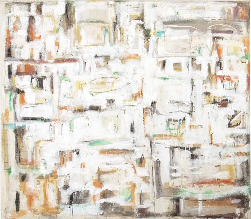Daniele Righi Ricco Abstract city map over the real ga