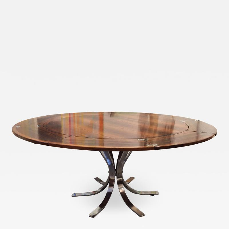Danish Mid Century Rosewood and Chrome Table