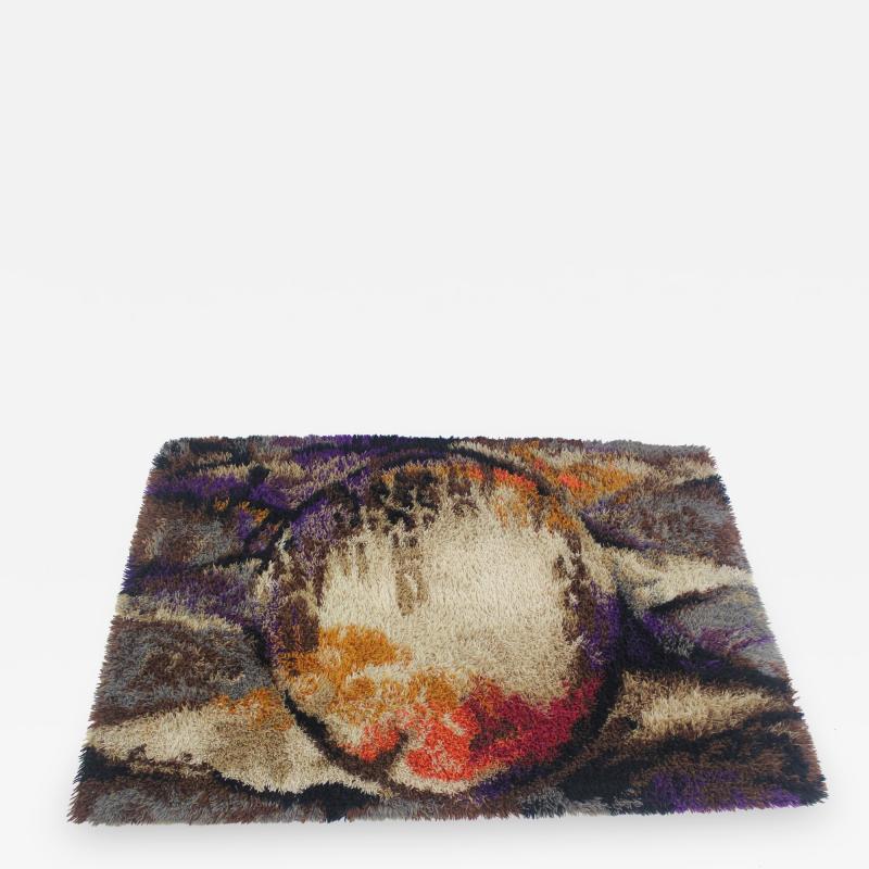 Danish Modern Norsk Rya Rug by Woven Axminster for British Carpet