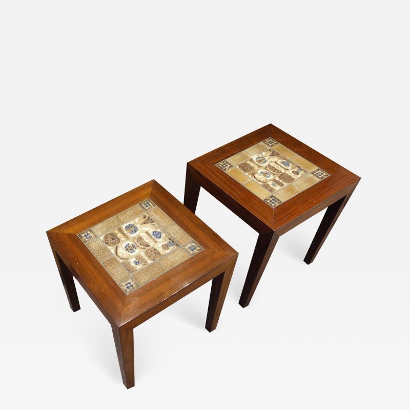 Danish Side Table Pair