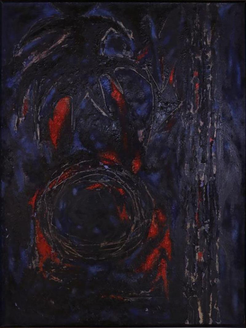 Dark Abstract Oil Painting