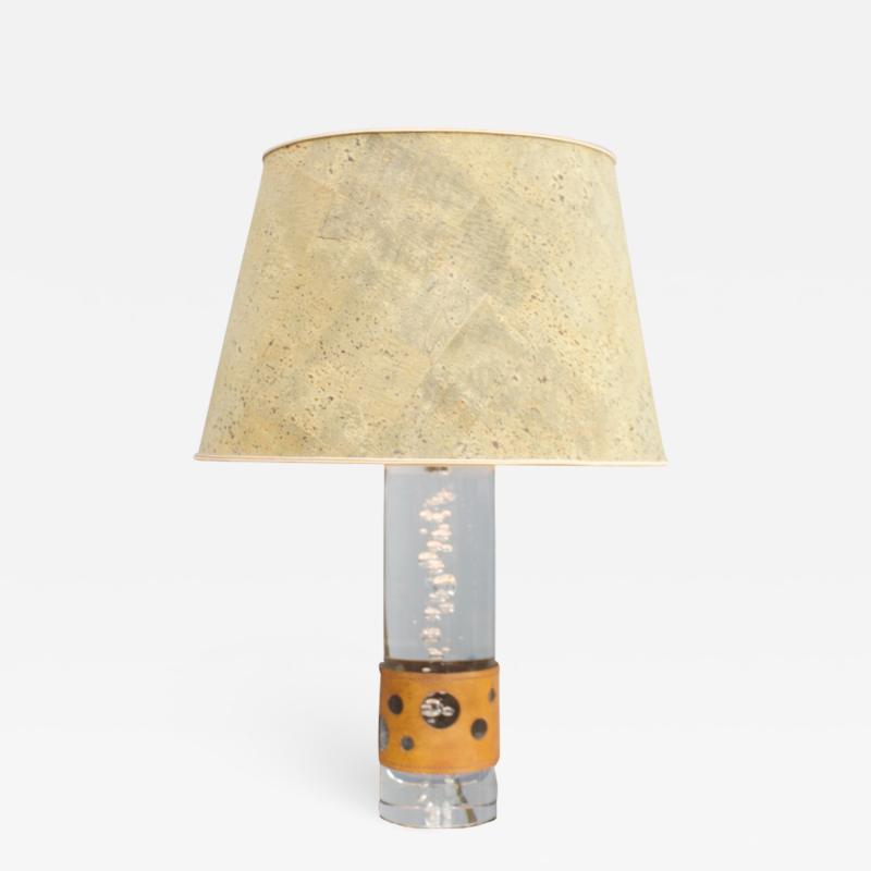 Daum Nancy Glass Table Lamp by Daum France 1970s