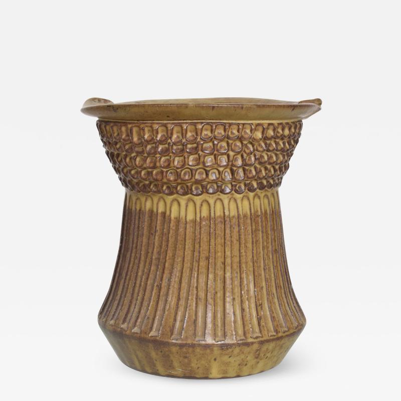 David Cressey 1960s David Cressey Style Architectural Studio Pottery Sculptural Ceramic Vase
