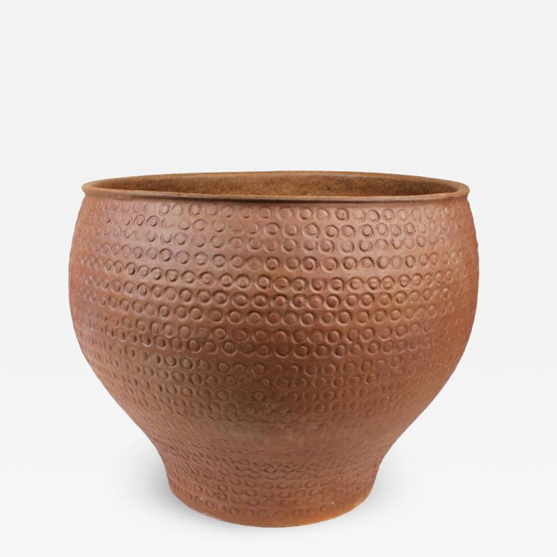 David Cressey Unglazed Cheerio Ceramic Planter for Architectural Pottery