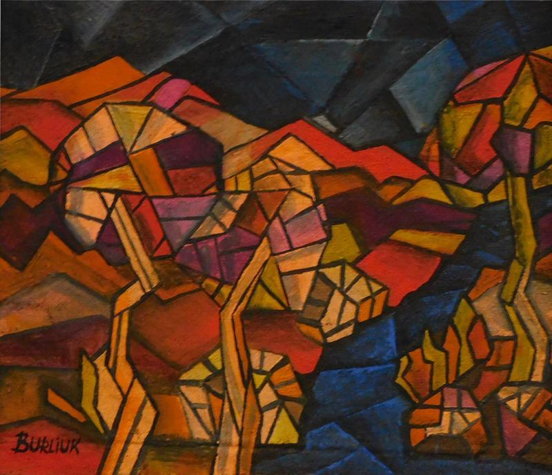 David Davidovich Burliuk David Burliuk untitled abstract oil on canvas