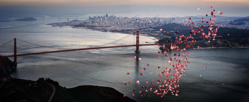 David Drebin Balloons over San Francisco