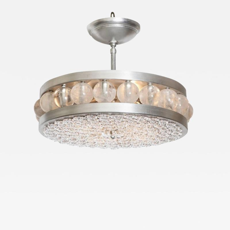David Duncan The Decazes Tambour 17 Pendant with Silver Plate Finish by David Duncan