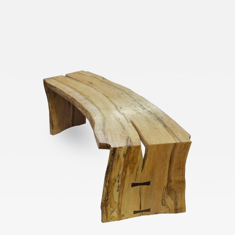 David Ebner The David Ebner Free Edge Spalted Maple Bench