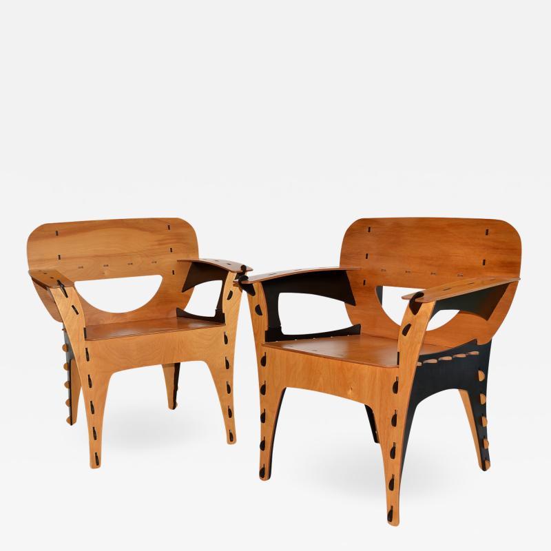 David Kawecki Pair of Puzzle Chairs by David Kawecki
