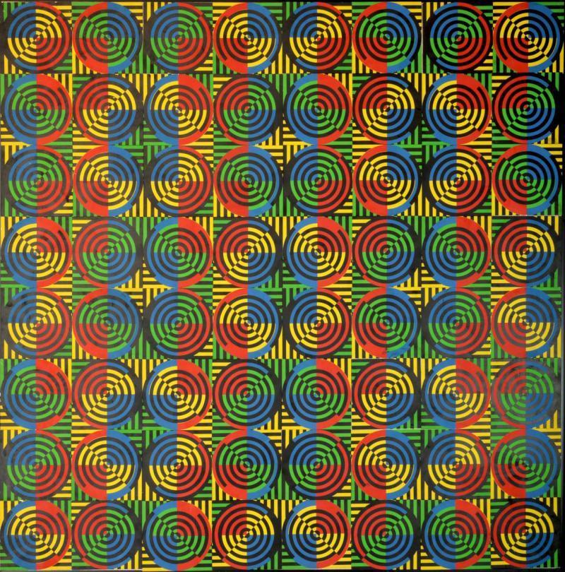 David Lipszyc Kinetic painting by David Lipszyc 1969