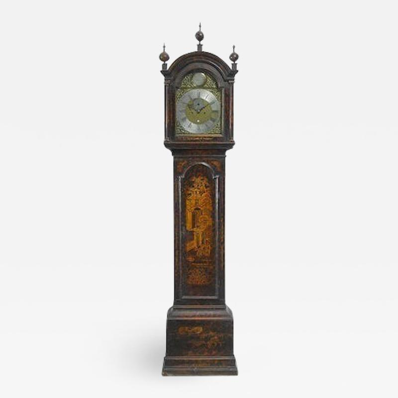 David Patterson George III 18th Century Chinoiserie Tall Case Clock circa 1780