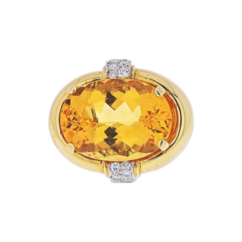 David Webb DAVID WEBB PLATINUM 18K YELLOW GOLD RING