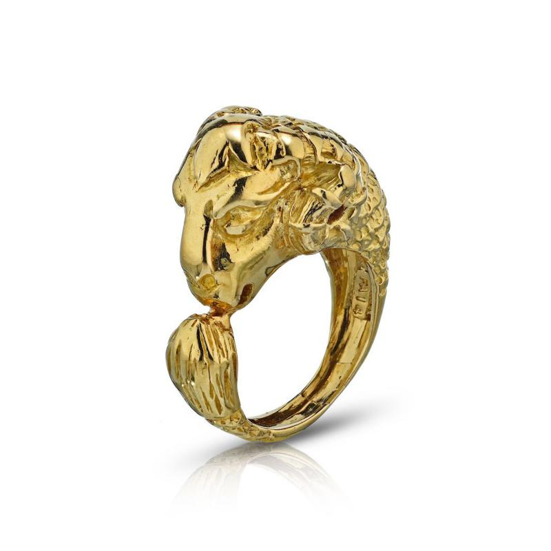 David Webb David Webb 18K Gold Ram Ring