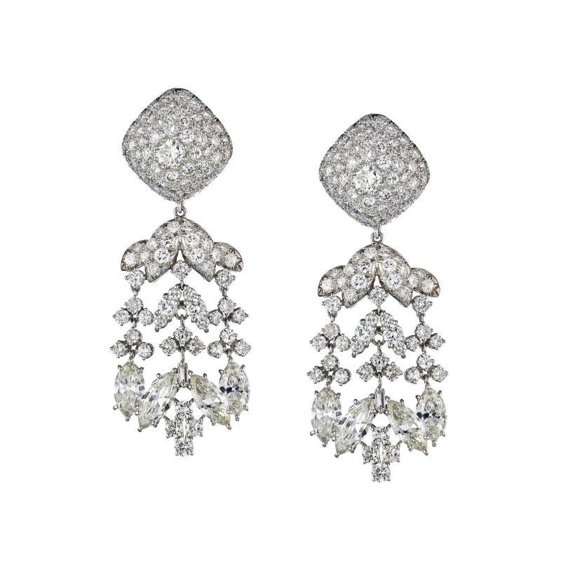 David Webb David Webb Day And Night 20 17 Carat Diamond Chandalier Earrings