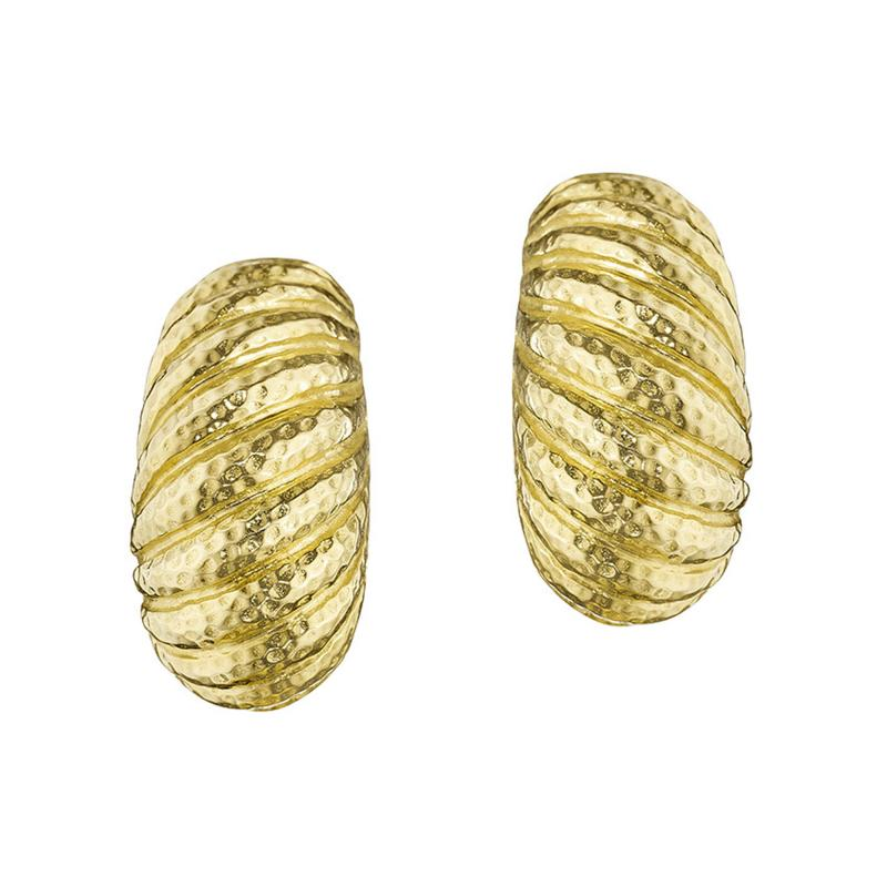 David Webb David Webb Late 20th Century Gold Bomb Shrimp Earrings