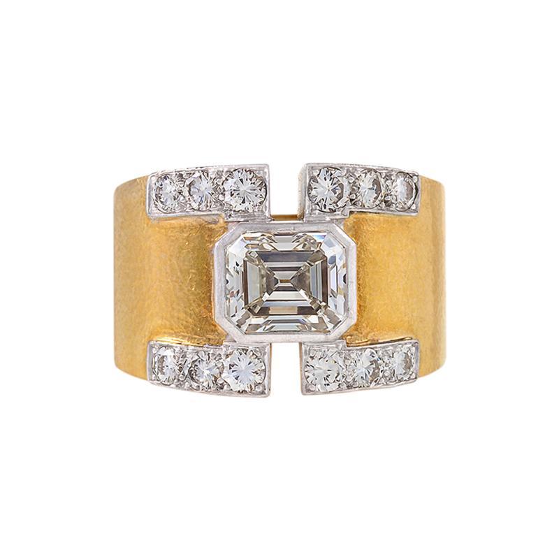 David Webb David Webb Mid 20th Century Diamond Gold and Platinum Ring